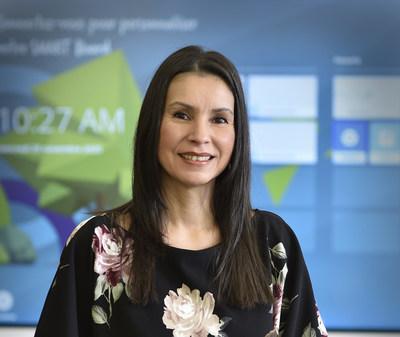 La professeure Nancy Wiscutie-Crépeau de l'UMR INRS-UQAT en études autochtones (Groupe CNW/Institut National de la recherche scientifique (INRS))
