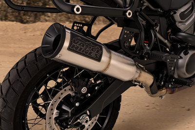 The Vance & Hines Adventure Hi-Output 450 exhaust features a new badge designed specifically for the company's off-road products.