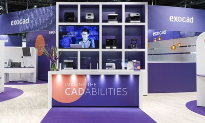 """Under the new slogan """"Imagine the CADabilities,"""" exocad presents a new booth design at this year's International Dental Show (IDS) in Cologne, Germany."""