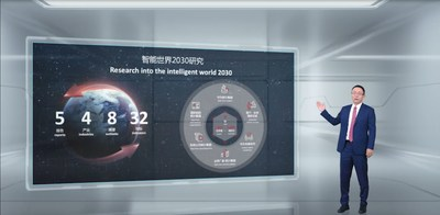 David Wang publie le rapport Intelligent World 2030 (PRNewsfoto/Huawei)