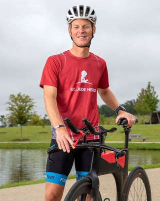 St. Jude Hero Scott Sandlin is also training for the St. Jude IRONMAN 70.3 Memphis. He competed in the 2019 IRONMAN World Championship in Kona, Hawai`i, becoming the first St. Jude Hero to do so.