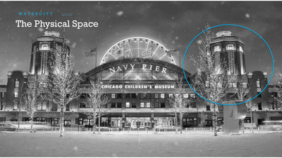 The MOEN presents Water City exhibit will be located in a 1,645 sq. ft. gallery on the museum's third floor, in the historic part of Navy Pier called the Head House, which is a 50 ft. tall tower that can be seen on the western elevation of the historic Navy Pier.