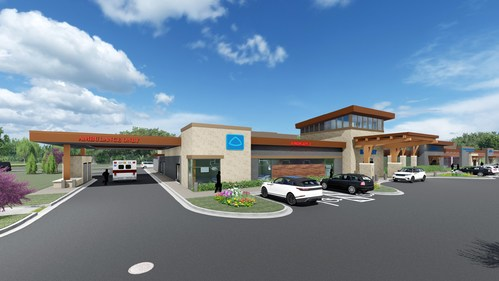 Artist rendering of the Future Baptist FSED and MOB in Arlington, Tenn.