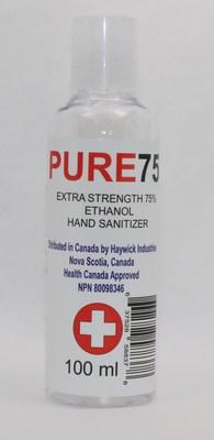 Désinfectant pour les mains en gel PURE75 (NPN 80098346) (Groupe CNW/Santé Canada)