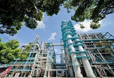 Légende de l'image (texte) : Usine de production de Sinopec Gaoqiao Petrochemical Corporation.
