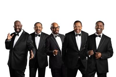 Photo Credit: Jay Gilbert   Photo: Left to right (Otis Williams, Ron Tyson, Mario Corbino, Willie Greene, Jr., Terry Weeks).