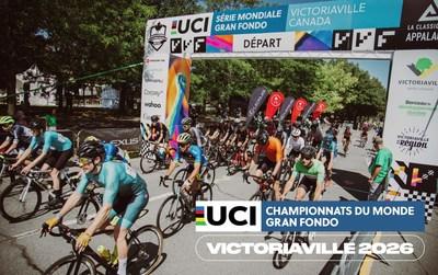 Victoriaville et sa région accueilleront les Championnats du monde Gran Fondo UCI en 2026 (Groupe CNW/Ville de Victoriaville)