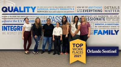 2021 is the second consecutive year that The Orlando Sentinel has awarded Quality One Wireless with the Top Workplaces honor in the Orlando and Central Florida area.