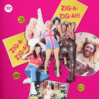 """Spotify celebrates the 25th anniversary of the Spice Girls' debut album, """"Spice,"""" with Spotify's Spice Bus touring London. On board super fans were hosted by drag queens Baga Chipz, Ophelia Love, Vanity Milan, Kitty Scott-Claus, and Ella Vaday."""