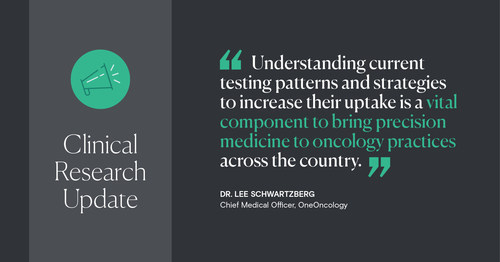 OneOncology and Genentech present data examining genomic profiling and biomarker testing patterns in community oncology centers.