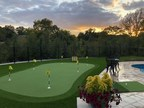 Layered Synthetic Grass Creates the Perfect Backyard Putting Green...