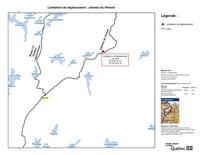 Limitation de déplacement : chemin du Vimont (Groupe CNW/Ministère des Forêts, de la Faune et des Parcs)