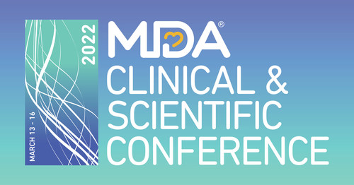 Registration Now Open for 2022 MDA Clinical & Scientific Conference, March 13-16, 2022, both in-person in Nashville, TN, and virtually.