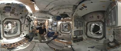 Voyageurs stellaires : la vie en orbite. ?Crédit : Felix & Paul Studios (Groupe CNW/Espace pour la vie)