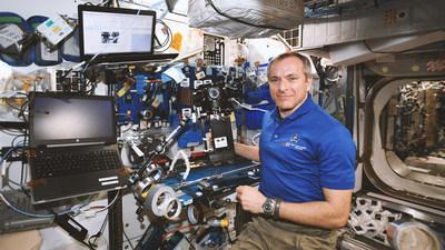 David Saint-Jacques - Voyageurs stellaires : la vie en orbite. ?Crédit : Felix & Paul Studios (Groupe CNW/Espace pour la vie)