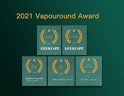 Chinese vape brand Geekvape garners five awards at Vapouround Award 2021 WeeklyReviewer