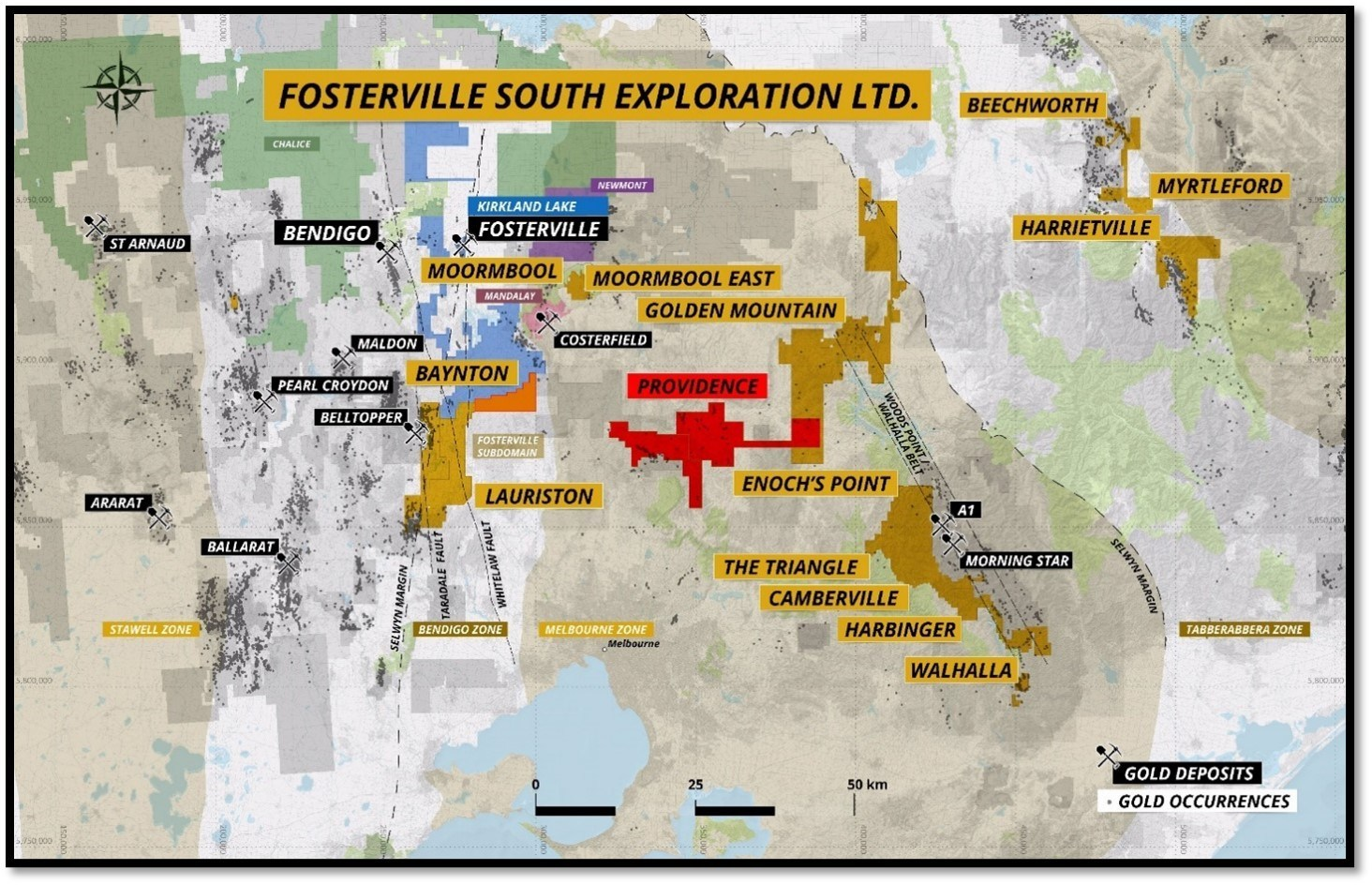 Figure 2 – Fosterville South Overview Map (CNW Group/Fosterville South Exploration Ltd.)