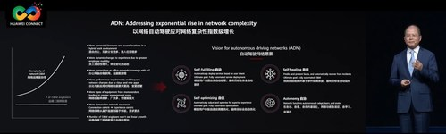 Eric Xu, Huawei's Rotating Chairman, introducing Huawei's vision for ADN in the 'Diving into Digital' keynote at HUAWEI CONNECT 2021