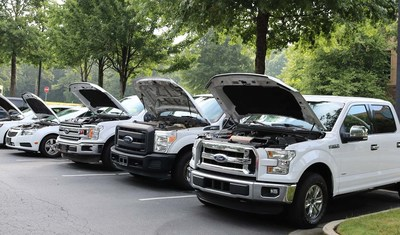 Propane, Electric and Natural Gas commercial vehicles, from small wheel utility vehicles to Class 8 heavy-duty trucks to be displayed at Clean Energy Roadshow at Peachtree Corners 10/5/21.