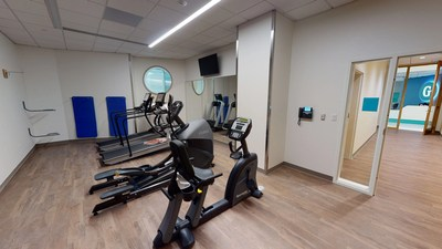 New amenity areas include an exercise room with showers, a massage area, laundry rooms, additional lounges, and quiet rooms to help make longer stays more comfortable for families.