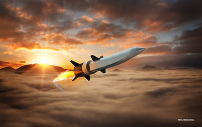 Artist's concept of Hypersonic Air-breathing Weapons Concept (HAWC) missile