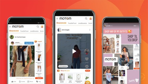 Creators' TikTok, Instagram, and YouTube posts are shoppable onMotom, automatically merchandised to all users across Motom, and promoted by creators with #shopmymotom in social posts.