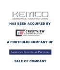 KAL Capital Markets Announces Kemco Aerospace Manufacturing...