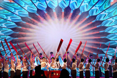 Performance at the Opening Ceremony (PRNewsfoto/Huanqiu.com)