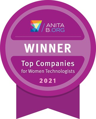 The distinguished national program from AnitaB.org is the only benchmarking program that looks specifically at technical employees and awards companies that are embracing accountability and making the most progress toward the equity of women.