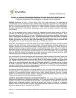 Ovintiv to Increase Shareholder Returns Through Share Buy-Back Program (CNW Group/Ovintiv Inc.)