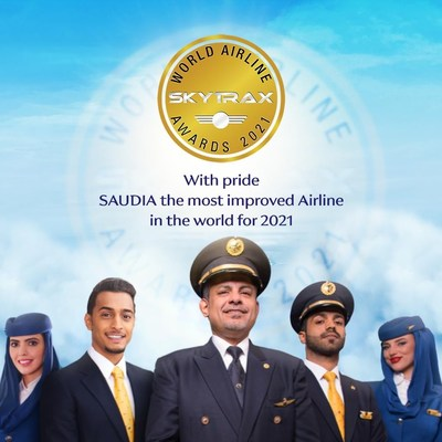SAUDIA crowned the World's Most Improved Airline in 2021
