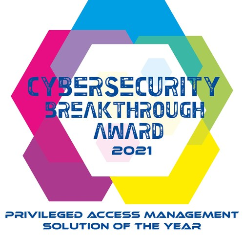 Cybersecurity Breakthrough Award 2021 - Four Years in a Row