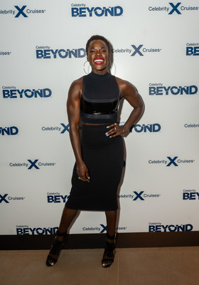 Popular Peloton instructor Tunde Oyeneyin attends a launch event for Celebrity Cruises newest ship, Celebrity Beyond, Monday, Sept. 27, 2021, in New York. The ship features a first at sea restaurant by Michelin-starred Chef Daniel Boulud and a new multi-level, outdoor internationally-inspired bar, Sunset Bar, by acclaimed interior designer Nate Berkus.  (Photo by Diane Bondareff/Invision for Celebrity Cruises/AP Images)