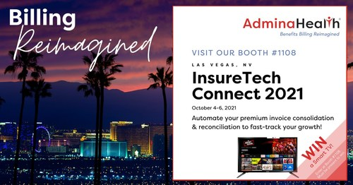 AdminaHealth will be exhibiting at booth #1108 at InsureTech Connect 2021