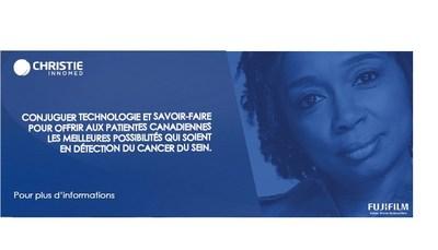 Conjuguer technologie et savoir-faire pour offrir aux patientes Canadiennes les meilleures possibilités qui soient en détection du cancer du sein (Groupe CNW/Christie Innomed)