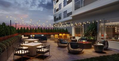 Cambria Hotels Outdoor Patio Rendering
