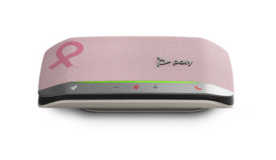 For every pink Poly Sync 20 sold, Poly will donate $10 to National Breast Cancer Foundation.