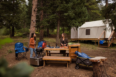 Outdoor pioneers partner to outfit ready-to-go sites with latest gear