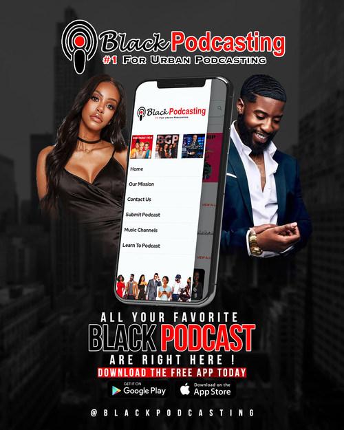 Black Podcasting Promotional Flyer