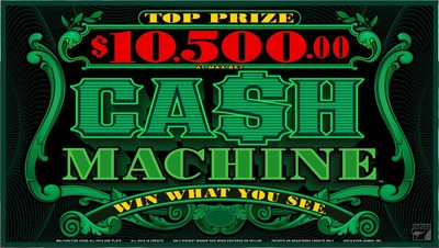 Cash Machine®: The innovative Win What You See®, 1-line phenomenon featuring a rich respin bonus that can be triggered in multiple ways for more exciting ways to win.