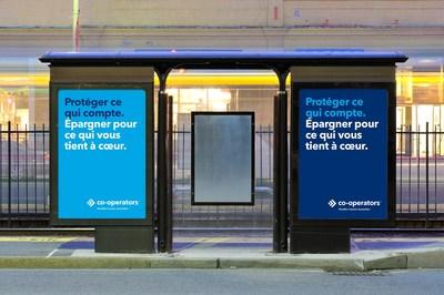 Abribus montrant la nouvelle campagne publicitaire. (Groupe CNW/The Co-operators Group Limited)