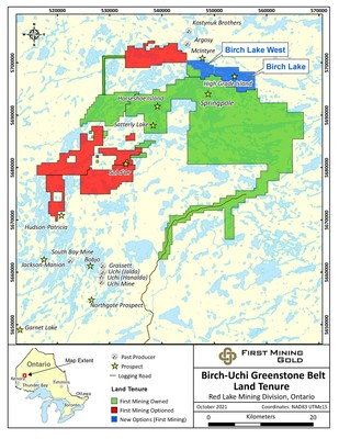 Figure 1: First Mining Land Tenure Around Springpole Gold Project (CNW Group/First Mining Gold Corp.)