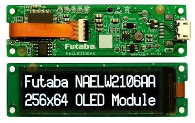 Digi-Key Electronics is partnering with Futaba to bring its range of OLED modules to the Digi-Key Marketplace, including the NAELW2106AA.