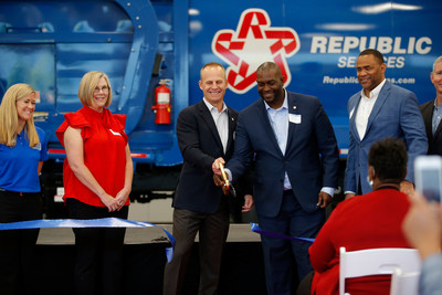 Republic Services CEO Jon Vander Ark and leaders from Lincoln Tech open the Republic Services Technical Institute in Dallas, Texas, on Monday, Oct. 4, 2021.