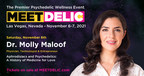 Molly Maloof博士,内科医师、技术专家和企业家,在Meet Delic:世界首映迷幻药和健康活动上发表主旨演讲