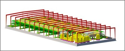 Image 1 – 3D rendering of First Cobalt's new solvent extraction plant (CNW Group/First Cobalt Corp.)