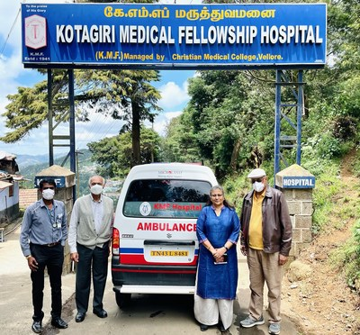 """""""Critically ill underprivileged patients in this remote region are compelled to bear high travel costs and many go through a tough ordeal to reach the hospital in time.  The golden hour is critical to stabilize and transport patients for immediate medical attention and Microland's fully-equipped Eeco ambulance will be a game-changer for us."""" - Dr. Tony Abraham Thomas, Neurosurgeon and Medical Superintendent, Kotagiri Medical Fellowship Hospital."""