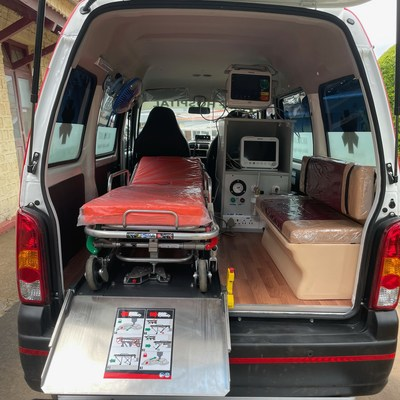 View of the ambulance showcasing the neuro-cardio features