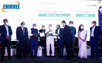 Emmvee signs MoU with Karnataka Government to set up 3 GW manufacturing facility in Dobaspet