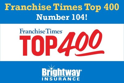 This is the seventh consecutive year Brightway has made Franchise Times' list of the top franchises in the U.S.